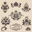Set of ornamental DAMASK illustrations - for your design, invita — Stock Vector