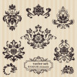 Set of ornamental DAMASK illustrations - for your design, invita — Stok Vektör