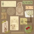 Set of Old paper with Vintage Goods - for your design and scrapb — Stock Vector #8780962