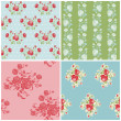 Seamless Floral Background Beautiful Set - for your design and s — Stock Vector