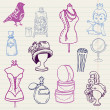 Royalty-Free Stock Vector Image: Set of Fashion Hand drawn Doodles - for your design