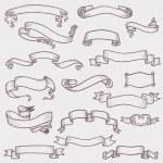 ancienne bannière de ruban - pour la décoration, scrapbooking et design dans vect — Vecteur