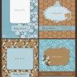 Set of Baby Arrival Cards - with place for your text and photo — Stock Vector #9489357