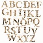 Vintage Alphabet auf der Grundlage von alten Zeitungen und Anmerkungen - in Vektor — Stockvektor