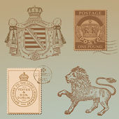 Set of Vintage Royalty Design Elements - High Quality - in vect — Vector de stock