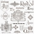 Stock vektor: Set of Vintage Royalty Design Elements - High Quality - in vect
