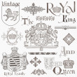 Set of Vintage Royalty Design Elements - High Quality - in vect — Stok Vektör #9721941
