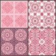 Seamless Vintage Background Collection - Victorian Tile in vecto — Stock Vector