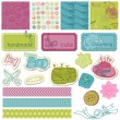 Stock Vector: Scrapbook Design Elements - Sewing Kit in vector