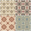 Seamless Vintage Background Collection - Victorian Tile — Stock Vector