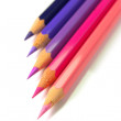 Purple Color Pencils - Stock Photo