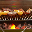 Barbecue with meat and vegetables — Stock Photo #8679150