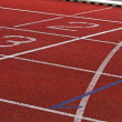 Stock Photo: Finish Lane in Athletic Stadion