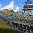 Seats of Ski Lift on the Ground — Stock Photo