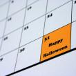 Happy Halloween Calendar — Stock Photo