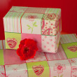 Presents wrapped in pink gift paper - 8 — Stock Photo