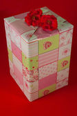 Presents wrapped in pink gift paper - 6 — Stock Photo
