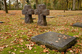 German Military Cemetery Vladslo - Crucifix — Stock Photo