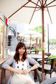Woman in restaurant — Stock Photo