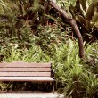 Stock Photo: Bench in park.