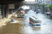 Massive flooding in Bangkok. — Stock Photo