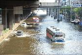 Massive flooding in Bangkok. — Stock Photo
