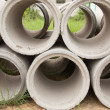 Concrete pipe. - Stock Photo
