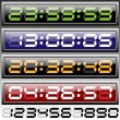 Stock Vector: Digital clock