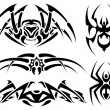 Stock Vector: Spider tattoos