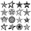 Stock Vector: Star set