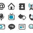 Communication icons — Stock Vector #8878238