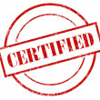 Rubber Stamp Certified — Stock Photo #10136811