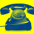 Old telephone icon — Stock Photo