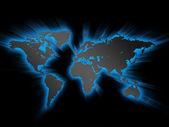 Светящийся карта мира — Стоковое фото