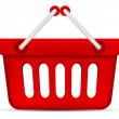 Red Shopping Basket — Stock Photo