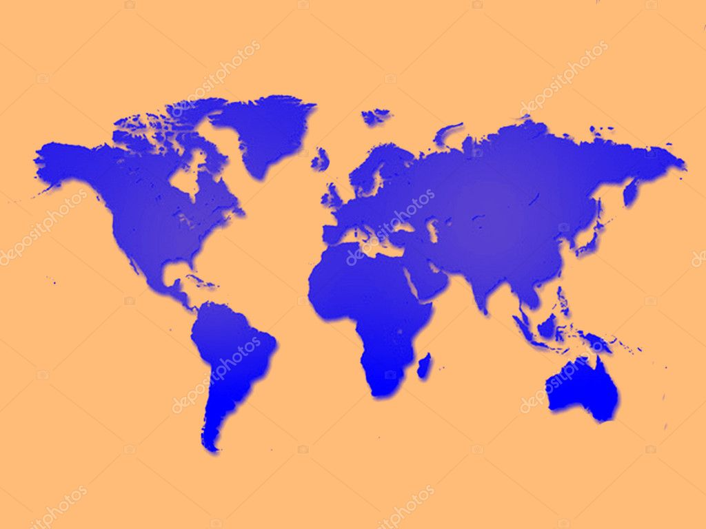 Colorful geographical map  Stock Photo #10579885
