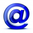 Blue e-mail symbol — Stock Photo