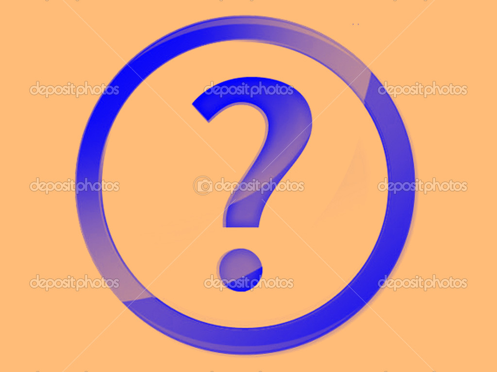 Question mark icon — Stock Photo #10580513