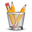 Stock Photo: Pencils icon