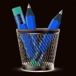 Pencils icon — Stock Photo