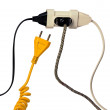 Power supply plugs and free outlet — Stock Photo #9457465