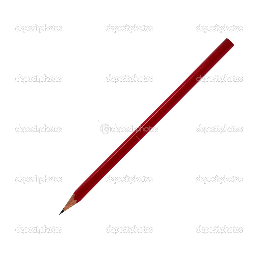 Wooden pencil isolated on white background — Stock Photo #9457927