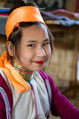 Ethnic minority girl in Myanmar — Stock fotografie