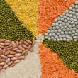 Stock Photo: colorful mix from different dry grains