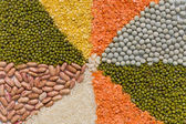 Colorful mix from different dry grains — Stock Photo