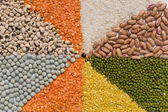 Colorful mix from different dry grains — Stock fotografie