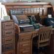 Antique roll top desk with drawers — Stock Photo #10477615