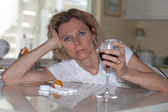 Alcohol and drug abuse — Stock Photo