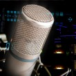 Studio Microphone and recording gear — Stockfoto