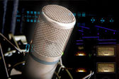 Studio Microphone and recording gear — Stock Photo